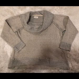 Lucky Brand Cowl Neck Cropped Sweater